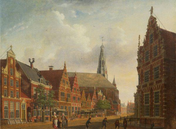Isaac Ouwater. Gezicht op de Nieuwstraat in Hoorn, 1785.