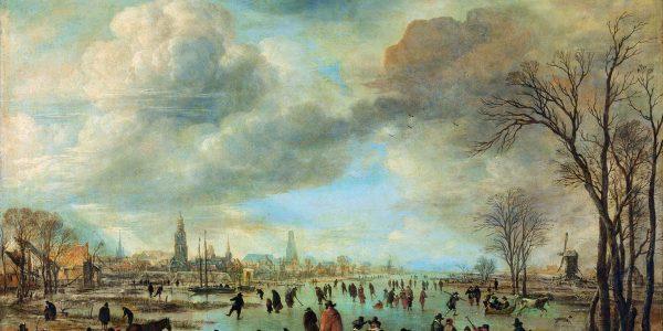 Aert van der Neer, Riviergezicht bij winter, ca 1655, olieverf op paneel