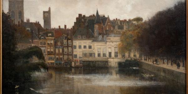 Gezicht op de Hofvijver, Floris Arntzenius, ca. 1917